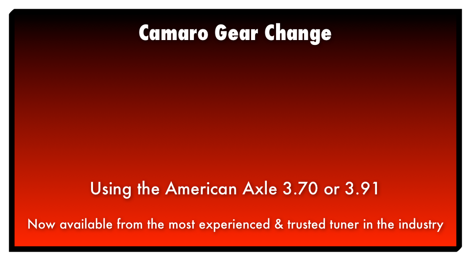Camaro Gear Change